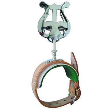 Harpje dwarsfluit (armklem aluminium met armband leer)
